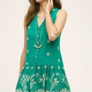 Maeve Anthropologie Pippa Swing Eyelet Dress S